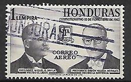 HONDURAS  -   Poste Aérienne  -  1961.   Y&T N°292 Oblitéré   /  Présidents. - Honduras