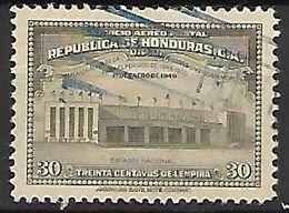 HONDURAS   -    Poste Aérienne.   1949.   Y&T N°166 Oblitéré.  Stade  /  Estadio Nacional. - Honduras