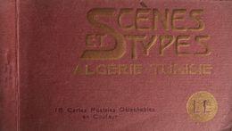 SCÈNES & TYPES Algérie & Tunisie. Album 13 Cps. COULEUR. Env. 1910. Bon état. - Afrique