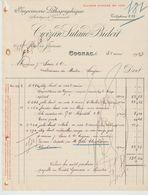 CHARENTE: CROIZARD, LUTAUD & BIDOIT, Imprimerie Litho Artistique, R. DE Jarnac à Cognac / Fact De 1913 - Imprimerie & Papeterie
