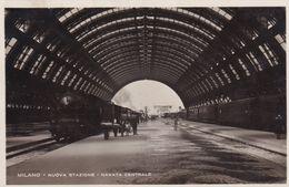 Cartolina MILANO- Nuova Stazione - Navata Centrale. 1931 - Milano (Milan)