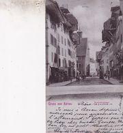 GRUSS AUS AARAU / KRONENGASSE /RARE + / CIRC 1901 - AG Argovia