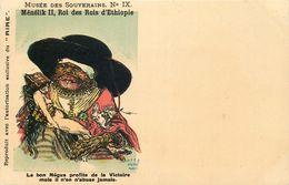 MUSEE DES SOUVERAINS  Menelik II Roi Des Rois - Satiriques