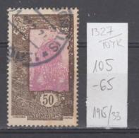 104K1327 / 1915-1930 - Michel Nr. 105 Used ( O ) Somali Girl , French Somali Coast French Somaliland - Oblitérés