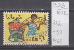 104K1328 / 1968 - Michel Nr. 122 Used ( O ) Citrus Sinensis (Sweet Orange Group) Agricultural Produce , Somalia Somalie - Somalie (1960-...)