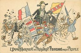 POLITIQUE CARTE SATIRIQUE  L'EMMENAGEMENT Du PRESIDENT POINCARE - Satiriques