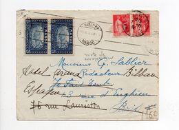 !!! MAROC, LETTRE DE RABAT DE 1934 POUR PARIS, AVEC MIXTE DE REEXPEDITION - Covers & Documents
