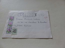 A-37 , 1981, Taxe , Type Fleurs , 1F X3 Et 20 Centimes , Pour Autun - Postage Due