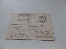A-38 , Prisonnier De Guerre, Kriegsgefangenenpost, Stammlager VII B, Pour Autun, 1944 - Germany
