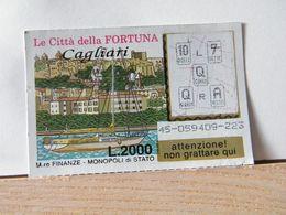 GV- 11  GRATTA E VINCI -  LE CITTÀ DELLA FORTUNA -  CAGLIARI -  BIGLIETTO N° 45-059409.223 - Biglietti Della Lotteria