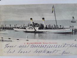 Carte Postale De Blankenberge, Bateau D'excursion, Roue à Aube , 1902, « 67 » - Blankenberge