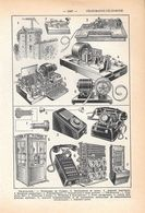Telegraphie, Telephonie. Stampa 1954 - Vieux Papiers