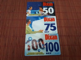 Dixan Set  Sratch & Phone 3 Prepaidcard 2 Mint + 1 Card Used 2 Scans Rare - Belgique