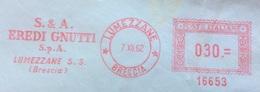 AFFRANCATURA ROSSA  - LUMEZZANE BRESCIA - S.& A. EREDI GNUTTI S.p.A. - 6. 1946-.. Repubblica