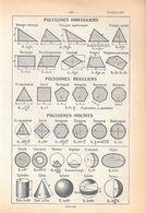 Polygones Irreguliers, Polygones Reguliers, Polygones Inscrits. Stampa 1954 - Vieux Papiers
