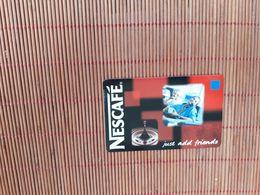 Sratch & Phone 100 BEF Nescafe  30/04/2001 (Mint,neuve) Rare - Belgique