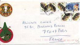 BELGIQUE AFFRANCHISSEMENT COMPOSE SUR LETTRE POUR LA FRANCE 1990 - Belgium