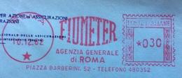 ASSICURAZIONI - AFFRANCATURA ROSSA  - FIUMETER AGENZIA GENERALE ROMA - 6. 1946-.. Repubblica