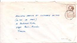 BELGIQUE SEUL SUR LETTRE POUR LA FRANCE 1985 - Belgium
