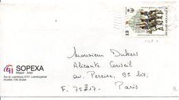 BELGIQUE SEUL SUR LETTRE POUR LA FRANCE 1989 - Belgium