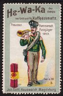 "Magdeburg Hauswaldt Kaffee Ha-Wa-Ka 1913 "" Bild: Pommern Jäger "" Vignette Cinderella Reklamemarke - Vignetten (Erinnophilie)"