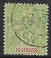 REUNION.    -   1900  .   YT N° 46 Oblitéré.   Type Groupe. - Reunion Island (1852-1975)