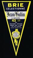étiquette Fromage Brie Selectionné Jean Hutin Hutin Bovée Fabriqué Dans La Meuse 55 45%mg - Käse