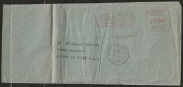 L., Affrt EMA TAXEE, PARIS 25-1-57 Pour MANTES La JOLIE, Taxée Verso N° YT T81 Et T82x2. Pli Vertical, AB/B - Poststempel (Briefe)