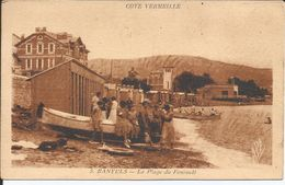 Cpa, Banyuls (Pyr.-Or.), La Plage Du Fontaulé, Bien Animée - Banyuls Sur Mer