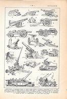 Artillerie. Stampa 1954 - Vieux Papiers