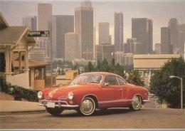 Volkswagen Karmann-Ghia  On Figueroa Terrace, Los Angeles  -  Carte Postale Modern - PKW