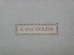Ex-libris Typographique XVIIIème - BELGIQUE - L'ABBE COLINS - Bookplates