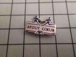 316a Pin's Pins / Rare & Belle Qualité !!! THEME : MARQUES / ASSURANCES AXA ATOUT COEUR - Marques