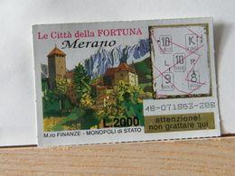 GV-20 GRATTA E VINCI -  LE CITTÀ DELLA FORTUNA -  MERANO-  BIGLIETTO N° 48-071863-288 - Biglietti Della Lotteria