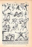Boxe. Stampa 1954 - Vieux Papiers