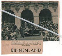 LEUVEN..1938.. PRESIDENT HOOVER IS OP BEZOEK IN DE UNIVERSITEITSBIBLIOTHEEK IN GEZELSCHAP VAN RECTOR LADEUZE - Oude Documenten