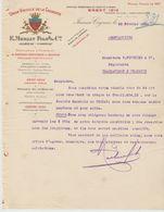 CHARENTE:  E. MERLIN & Fils, Distilleries & Vignobles à Jarnac / L. De 1920, Dorure Au Cuivre Filigrane - Alimentaire