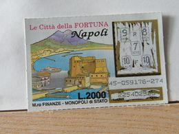 GV-22 GRATTA E VINCI -  LE CITTÀ DELLA FORTUNA -  NAPOLI -  BIGLIETTO N° 45-059176-274 - Biglietti Della Lotteria