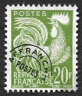 Préo  113  - Coq Gaulois  20f   -  Sans Gomme - 1953-1960