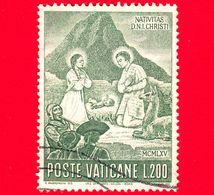 VATICANO - Usato - 1965 - Natale  - Natività - 200 L. - Oblitérés