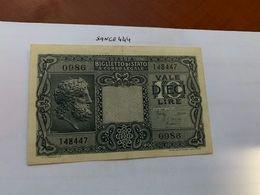 Italy 10 Lire Giove Uncirc. Banknote 1935 #2 - Italia – 10 Lire