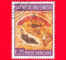VATICANO  - Usato - 1967 - Natale - Christmas - Natività - 25 L. - Oblitérés