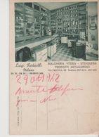 MILANO DITTA LUIGI REDAELLI  BULLONERIA,VITERIA UTENSILERIA Veduta-viaggiata-NO- 1942-fg-mt.5503 - Milano