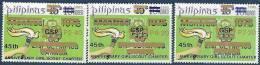 1985  PHILIPPINES  1459-61** Scoutisme, Surchargés - Filipinas