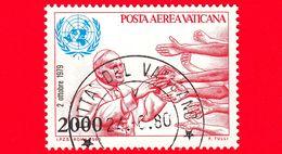 VATICANO - Usato - 1980 - Viaggi Di Giovanni Paolo II Nel 1979 -  POSTA AEREA - O.N.U. - ONU - 2000 - Vatican