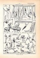 Gymnastique. Stampa 1954 - Vieux Papiers