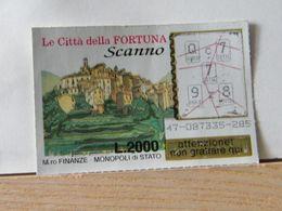 GV-28 GRATTA E VINCI -  LE CITTÀ DELLA FORTUNA -  SCANNO -  BIGLIETTO N° 47-087335-285 - Biglietti Della Lotteria