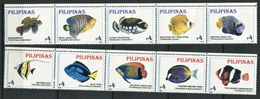 264 - PHILIPPINES 1996 - Yvert 2233/42 - Poisson - Neuf ** (MNH) Sans Trace De Charniere - Filipinas