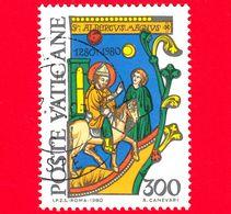 VATICANO - Usato - 1980 - 7º Centenario Della Morte Di Sant'Alberto Magno - S.Alberto Magno In Viaggio - 300 L. - Vatican