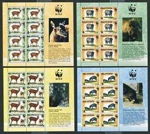 264 - PHILIPPINES 1997 - Yvert 2354/57 En Feuille - WWF Cerf Sanglier - Neuf ** (MNH) Sans Trace De Charniere - Filipinas